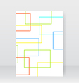 Flyer for design abstract geometric rectangles vector image
