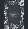 happy easter day vintage design vector image