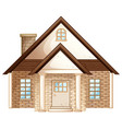 brick house with brown roof vector image