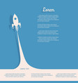 rocket with smoke business startup concept vector image
