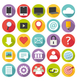 Flat design multimedia icons set vector image