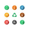 Recycling icons collection vector image vector image