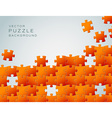 Abstract background made from orange puzzle pieces vector image vector image