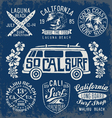 Set of Vintage Surfing Graphics and Emblems vector image vector image