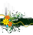urban grunge flowers and birds vector image vector image