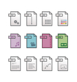 File extension icons vector image