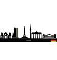 berlin text flag city skyline vector image