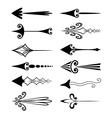 Vintage arrows vector image