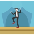 Clown Performing Pamtomime On Stage vector image