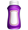 A purple generic bottle vector image