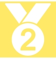 Silver medal icon from Competition  Success vector image