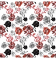 Watercolor seamless pattern with roses Background vector image