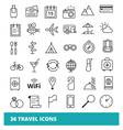 Travel and Tourism set web icons vector image