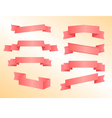 banners pink vector image