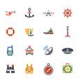 coastguard icon set vector image