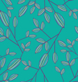 cute Seamless leaf pattern vector image