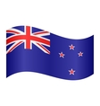 Flag of New Zealand waving on white background vector image