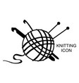 knitting icon vector image