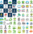 large set of logos homes and cities vector image
