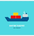 Maritime transport vector image
