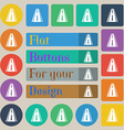 Road icon sign Set of twenty colored flat round vector image