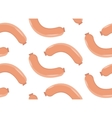 Sausages seamless pattern flat style vector image