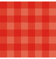 Seamless red grid background or checkered pattern vector image