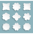 set of 9 white frames vector image