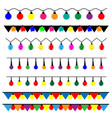 string of christmas lights vector image