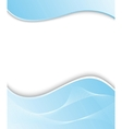 wavy blue background template vector image