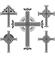 set of crosses vector image vector image