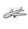 plane - airliner vector image vector image