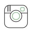 Instagram vector image