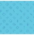 Seamless background pattern for technology vector image
