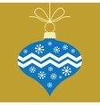 christmas ball in flat style vector image