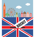 brexit in the uk vector image