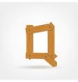 Wooden Boards Letter Q vector image