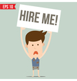 Business man unemployment - - EPS10 vector image vector image