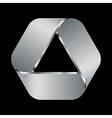 metal emblem vector image vector image