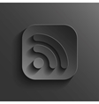 RSS icon - black app button vector image vector image