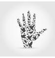 Hand a bird vector image