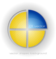 business circle light yellow blue vector image