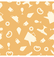 Seamless texture with tea items vector image