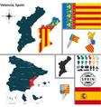 Map of Valencia vector image