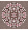 Abstract Flower Mandala Decorative ethnic element vector image