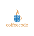 abstract logo template corporate coffee cod vector image