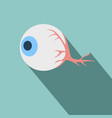 anatomy eye icon flat related icon with long vector image
