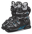 black ski boots vector image