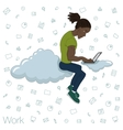 Cloud technologies services for work and life vector image