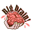 Hand and brain design vector image